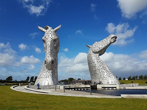The Kelpies near Glasgow, Scotland