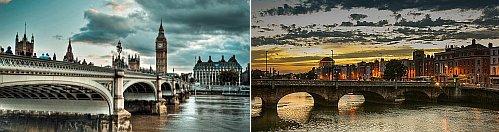 London, UK and Dublin, Ireland